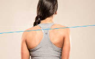 Правое плечо ниже левого упражнения