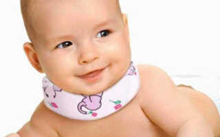Как правильно одеть воротник шанца новорожденному видео