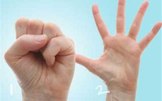 Зарядка для суставов пальцев рук